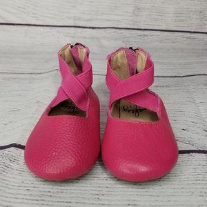 Monkey Feet Pink Flat Ballet Shoes 12-18M